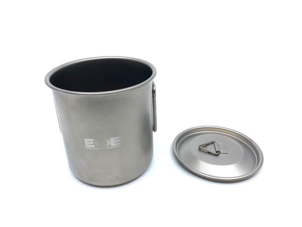 EOE Olivin 400 - Titan Tasse mit Deckel