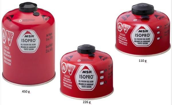 MSR IsoPro Gaskartuschen